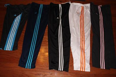 Lot Of 5 Adidas Womens Athletic Pants Wind Pants Capris Gray Black Navy Medium