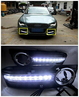 For Audi A4 B8 2008-2012 Quality Exterior Daytime Running Lights Cover Styling