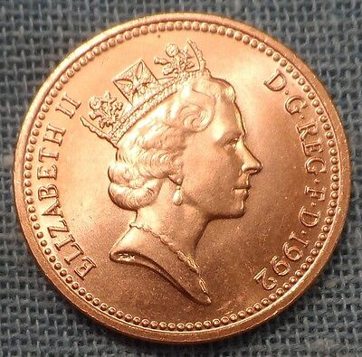 Great Britain  1992  1 Penny KM#935a  Brilliant Uncirculated