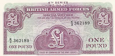 "£1 ** One Pound ...British Armed Forces, ""Special Voucher"""