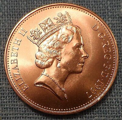 Great Britain  1997   Two 2 Pence KM#936a   Brilliant Uncirculated