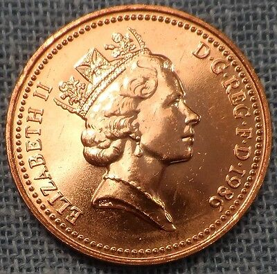 Great Britain  1986  1 Penny KM#935  Brilliant Uncirculated