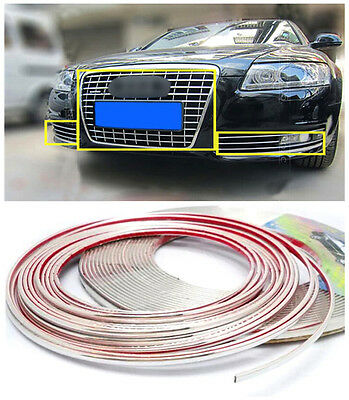 For Audi A6 C6 2009-2011 Front Center Grille Grill+ Fog Lamp Light Cover Trim *1