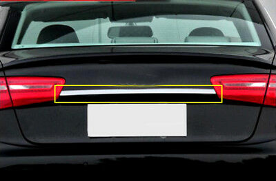 For Audi A6 C7 2012-2015 Stainless Auto Car Chrome Rear Trunk Lid Cover Trim 1pc