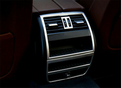 Stainless Rear Armrest Box Air Condition Vent Trim FOR BMW 5 SERIES 2011 - 2014