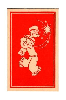 Vintage 1934 Popeye the Sailorman Magnetic Novelty Card L#34