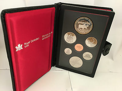 1985 Canada Proof Set 7 Coins Silver Dollar included