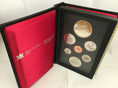 1987 Canada Proof Set 7 Coins Silver Dollar included