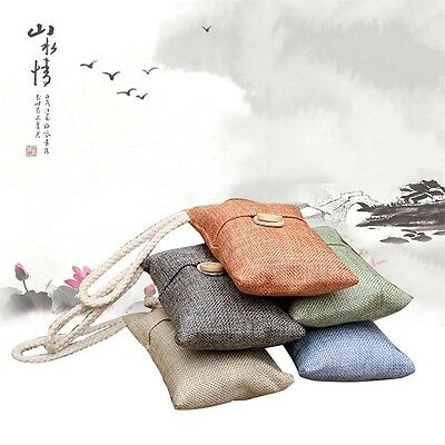 Bamboo Charcoal Moisture Absorber Air Freshener Bag for Home Bathroom Car