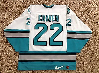 purchase cheap e5d63 99f8b MURRAY CRAVEN 97/98 San Jose Sharks Game Used Worn Home Jersey