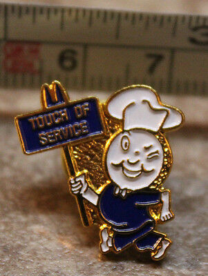 McDonalds Im Speedee Touch of Service Small Collectible Pinback Pin Button