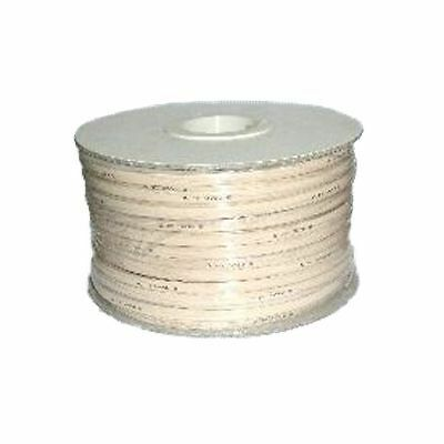 Amdex 4 Core Flat Telephone Cable 100M Roll (Ivory)