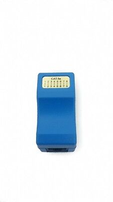 Blue In Line Cable Joiner Cat 5E Rj45 To Rj45