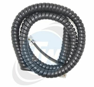 Black 5Mtr Telephone Curly Cord