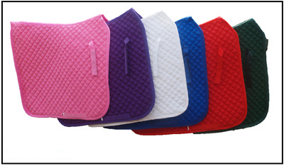 Dressage Saddle Pad Quilted Cotton with 20mm cushion