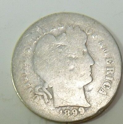 1899-S Barber Liberty Dime Silver 10c US Coin Item #10620