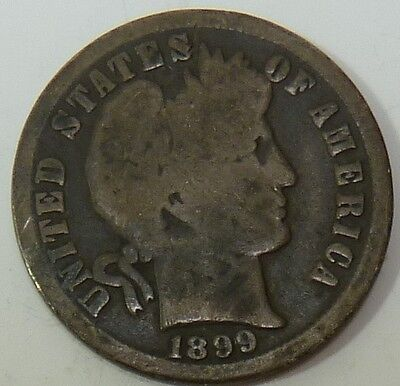 1899-O Barber Liberty Dime Silver 10c US Coin Item #10624