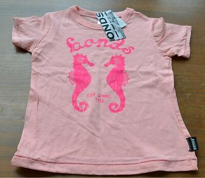 Two bonds baby girl t-shirts tops size 00 brand new