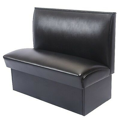 New Comfortable Black Deluxe Commercial Restaurant Booth Furniture