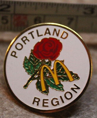 McDonalds Portland Rose Region Oregon USA Collectible Pinback Pin Button