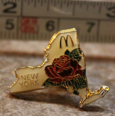 McDonalds New York State Rose USA Collectible Pinback Pin Button