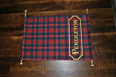 Rare Pendleton Advertising Wool Scroll Store Display Plaid