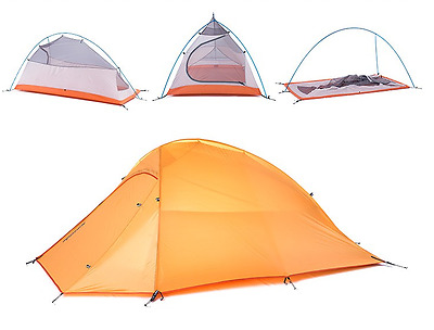1 2 Person Tent Ultra Lightweight Camping Hiking Premium Outdoor 1.7kg Winter