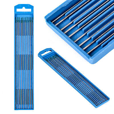 """10pcs 1x175mm 1/25"""" x 7"""" WT20 Green Tip Pure Tungsten Electrode For TIG Welding"""