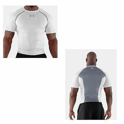 Under Armour Herren Compression Shirt Heatgear Dynasty kurzarm  weiss
