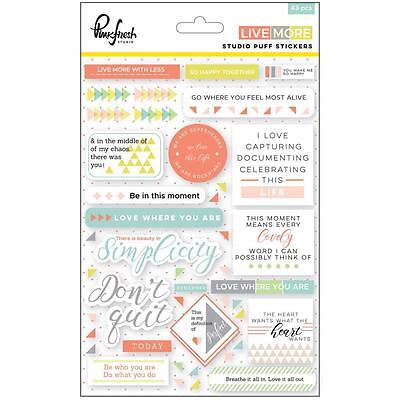 Puffy Stickers - Pink Fresh Studio - Live More - Planner Scrapbooking