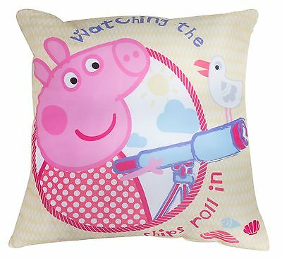 New Peppa Pig Childrens Super Soft Cushion Pillow Girls Kids Bedroom Yellow Gift