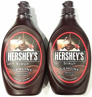 901298 2 x 680g BOTTLES OF HERSHEY'S SYRUP, GENUINE CHOCOLATE FLAVOR - U.S.A.