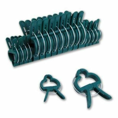 20x REUSABLE GARDEN PLANT PATIO SUPPORT FIXING CLIPS SPRING GARDENING SET PACK