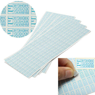 600pcs 2017-2019 Warranty Void If Damaged Protection Security Label Sticker Seal