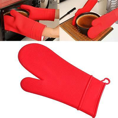 Baking Microwave Oven Cookware Mitts Heat Resistant Silicone Hand Glove Gift