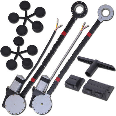 Universal 2 Door Power Window Kit Electric Roll Up Conversion w/ 2 Swithches Car