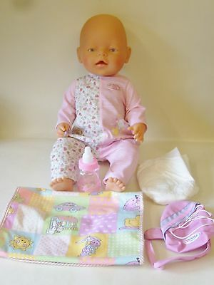 Baby Born Original Girl Doll By Zapf Creation With Accessories