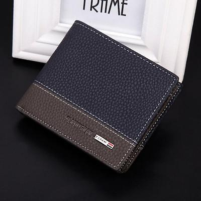 Luxury Mens Leather Bifold Money Card Holder Wallet Coin Purse Clutch Pockets