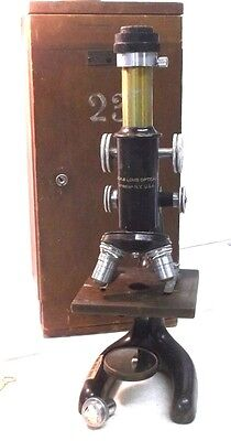 Antique Bausch & Lomb Optical Co Microscope PAT JAN 5 1915 227726 ONE INT 0.0025