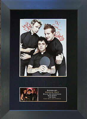 GREEN DAY No2 Mounted Signed Photo Reproduction Autograph Print A4 203