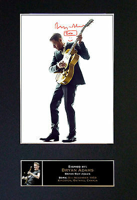 BRYAN ADAMS Mounted Signed Photo Reproduction Autograph Print A4 171