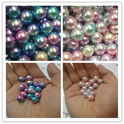 Wholesale100-5000pcs 4-12mm ABS Pearl Round Spacer Loose Colorful Beads DIY