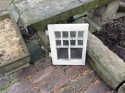 Vintage Sash Wood Window Picture Frame Shabby Chic 10 Pane Farmhouse Very Cute��