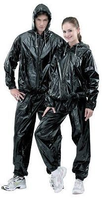 Heavy Duty Sweat Suit Sauna Suit Exercise Gym Suit Fitness Weight Loss Anti-Rip~