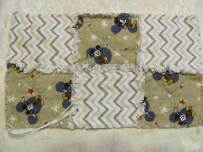New Mickey Gray Chevron Inspired Pacifier Clip Pacifier Holder/Burp Cloth