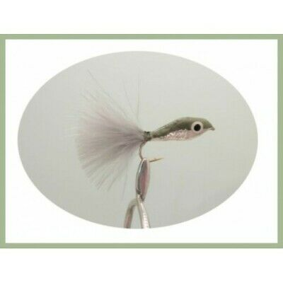 Minnow Trout Flies, 4 Pack Natural Epoxy Minnow, Size 10, Fishing Flies