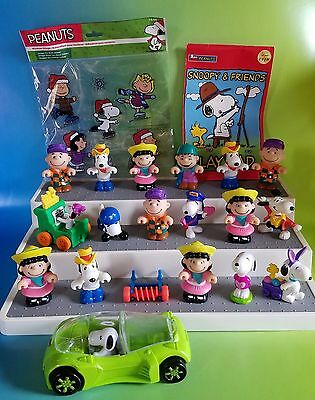 Peanuts PVC Lot of 21 McDonalds + more Figures Snoopy Charlie Brown Lucy Linus