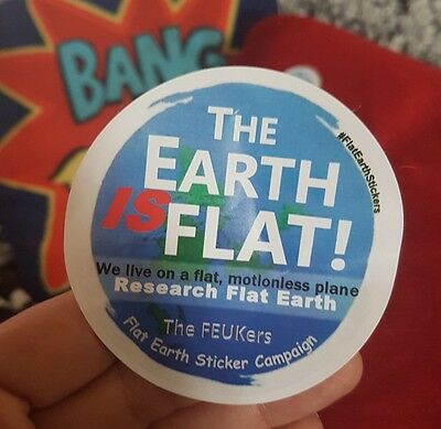 Flat Earth Sticker Campaign Large Pack  50 Large Stickers and 10 Small Stickers