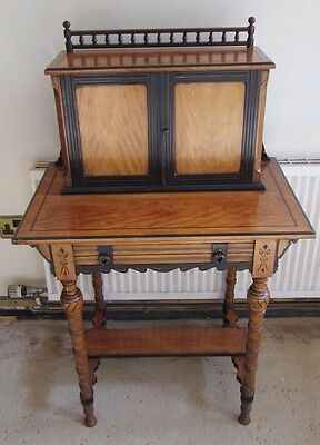 Antique Edwardian Satinwood Writing Desk