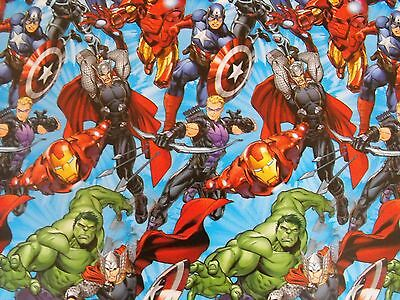 Marvel Super Hero Comic Strip Gift Wrap Wrapping Paper - 1 Large Sheet 1M  Wrap